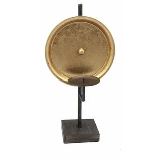 Sagebrook Home 12125-01 Metal Candle Holder On Stand, Gold Metal, 8 x 6.25 x 15.75 Inches