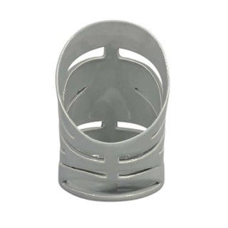 Sagebrook Home 13064-02 Decorative Ceramic Tealight Candle Holder, Gray Ceramic, 3.75 x 3.75 x 5.25 Inches