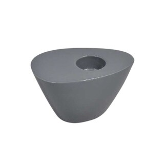 Sagebrook Home 13062-04 Oval Wedge Tealight Candle Holder, Charcoal Ceramic, 4.5 x 3 x 2.25 Inches