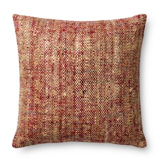 Knit Red/ Multi 22-inch Throw Pillow or Pillow Cover