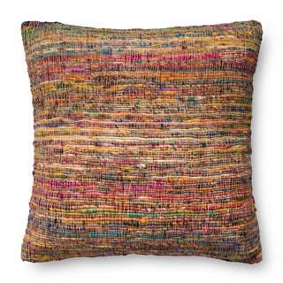Bohemian Knit Pink/ Multi 22-inch Throw Pillow or Pillow Cover