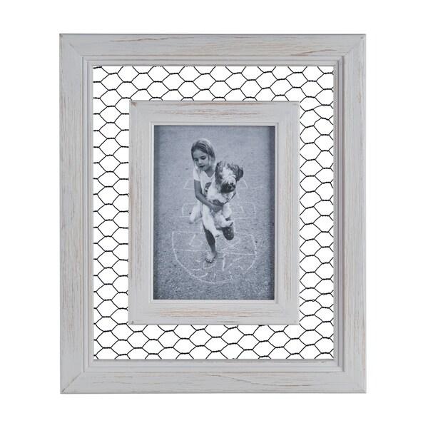Shop Danya B. Chicken Wire Whitewash Wood Picture Frame - 5\