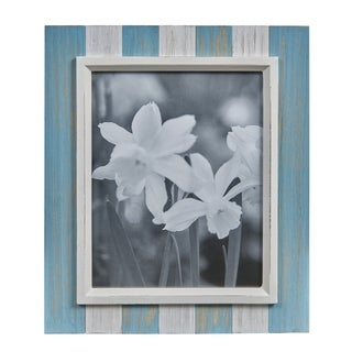 Danya B. Blue, Grey & White Distressed Wood Plank 8 x 10 Picture Frame