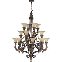 Madeleine Corsican Gold and Antique Amber 16-light Chandelier