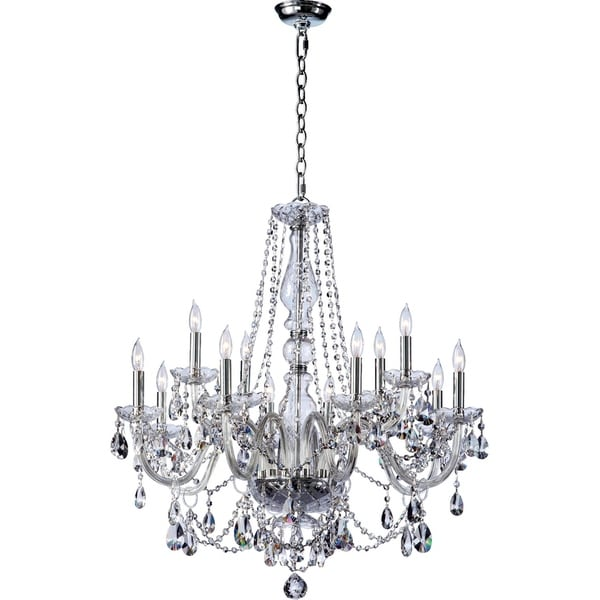 Katerina Chrome Crystal 12-light Chandelier