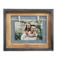 "Danya B. Rustic 5"" x 7"" Horizontal Wood Picture Frame"