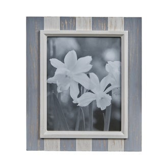 """Danya B. Grey and White Distressed Wood Plank 8"""" x 10"""" Picture Frame"""