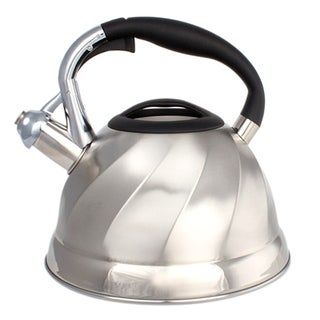 Stainless Steel Whistling Tea Kettle - Tea Maker Pot 3 Quarts 2.8 L