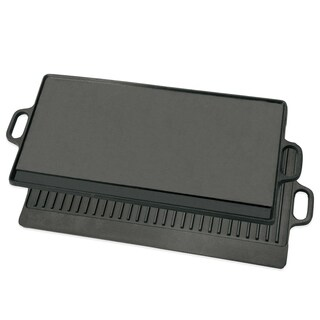 Large Cast Iron Double Side Reversible Grill Griddle Stovetop - BBQ