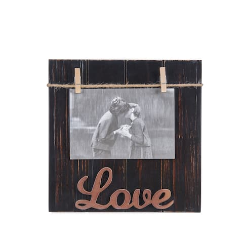 "Danya B. ""Love"" Wood Block 4""x 6"" Picture Frame"