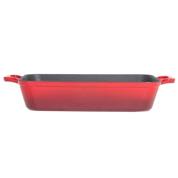 Shop Heavy Duty Red Enemeled Cast Iron 13 Quot X 9 Quot Lasagna