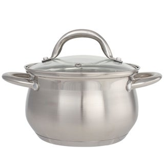 Stainless Steel 2 Quart Dutch Oven - Stainless Steel Stockpot With Glass Lid