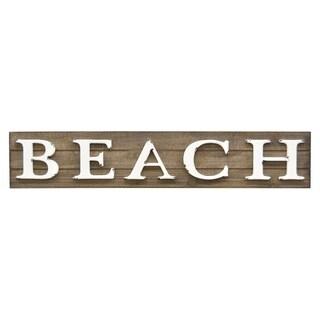 "Three Hands 6 "" Novelty Sign-Beach in Brown"