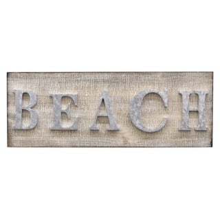 "Three Hands 8.25 "" Novelty Sign-Beach in Brown"