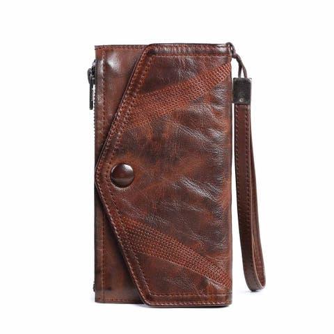 Azalea Leather Clutch - Small
