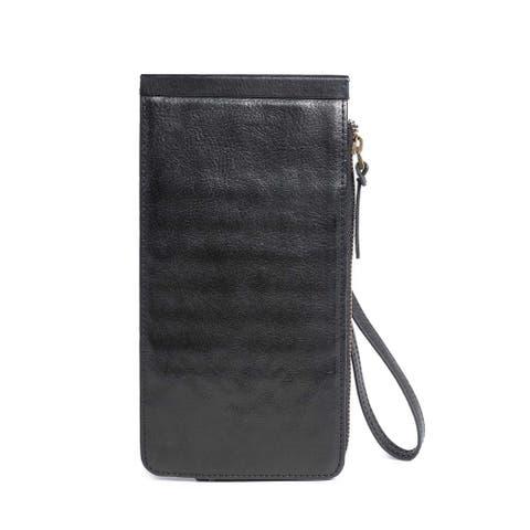 Boronia Leather Clutch - Small