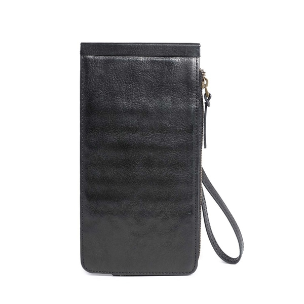 Boronia Leather Clutch - Small - Free Shipping Today - Overstock.com ...