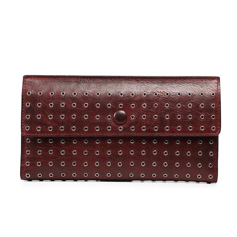 Jacaranda Leather Clutch - Small