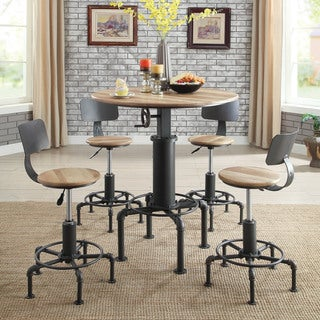 Furniture of America Marchison Industrial 3-Piece Bar Table Set