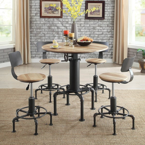 Bar Table And Chairs For Sale: Shop Furniture Of America Marchison Industrial Adjustable