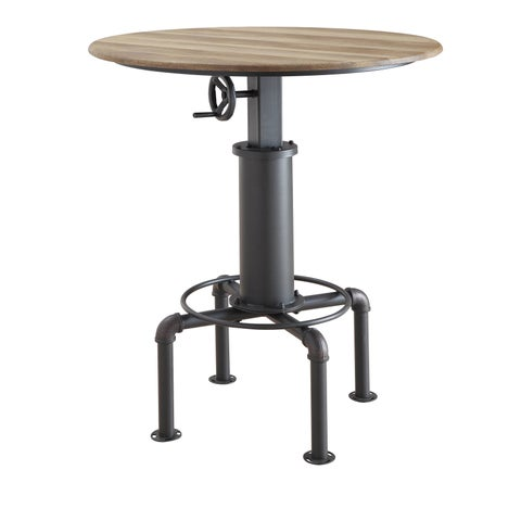 Furniture of America Marchison Industrial Adjustable Round Bar Table - N/A