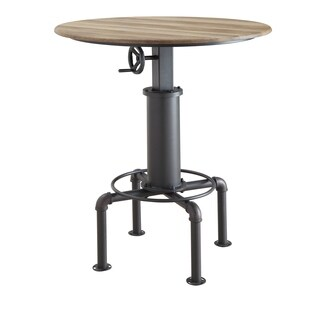 Furniture of America Marchison Industrial Adjustable Round Bar Table