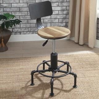 Furniture of America Marchison Industrial Adjustable Bar Stools (Set of 2)