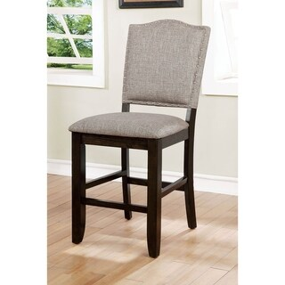 Furniture of America Fic Transitional Grey Counter Chairs Set of 2