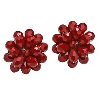 Link to Handmade Dazzling Chrysanthemum Floral Crystal Earrings (Thailand) Similar Items in Earrings