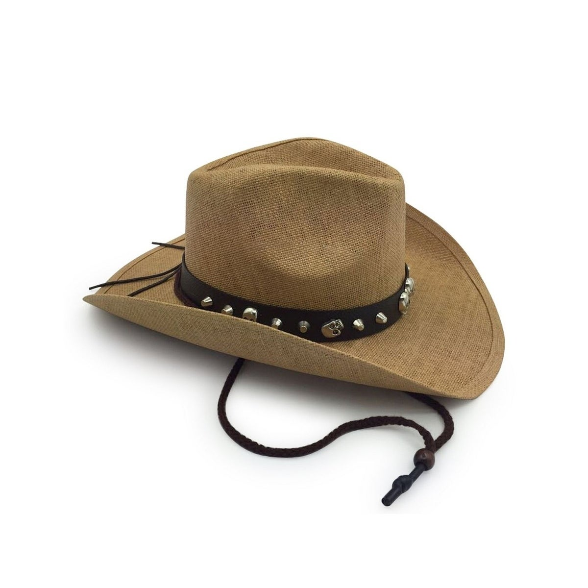 Shop Access Headwear Men s Old Stone Bones Light Brown Cowboy Drifter Style  Hat with Leather Star Studded Conch - Free Shipping On Orders Over  45 ... b4a021061cfb