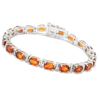 Link to Pinctore Sterling Silver Choice of Length Madeira Citrine Line Bracelet Similar Items in Bracelets