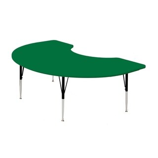 Correll Blow Molded Plastic Top Kidney Shaped Activity Table - Green