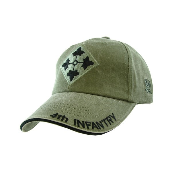 1bcc5a3d875 Shop 4th Infantry Division Army Military Cap - On Sale - Free Shipping On  Orders Over  45 - Overstock - 21335812