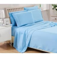 6 Piece: Solid Brushed 1800 Series Bed Sheets set, Deep Pocket, Stain Resistant, Soft & Extremely Durable Sheet set