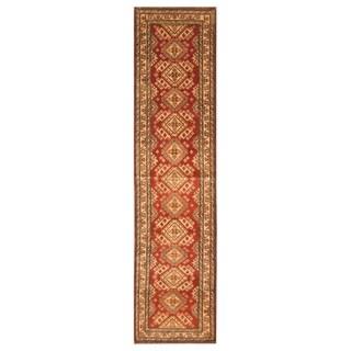 Handmade One-of-a-Kind Kazak Wool Runner (Afghanistan) - 2'9 x 11'6