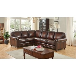 Grayson Hand Rubbed Top Grain Italian Leather Sectional