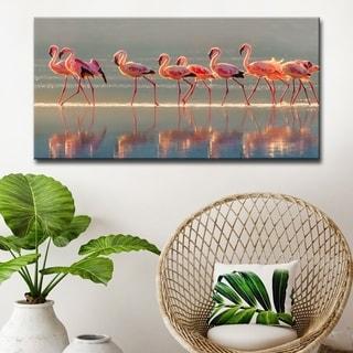 Flamingo' Coastal Wrapped Canvas Wall Art