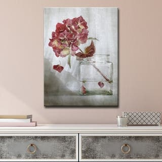 Hydrangea' Floral Wrapped Canvas Wall Art