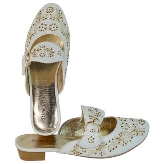 Ann Creek Women's 'Lucie' Metallic Embroidered Slip-on Shoes