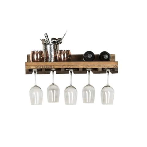 Handmade Rustic Luxe Stemware Shelf