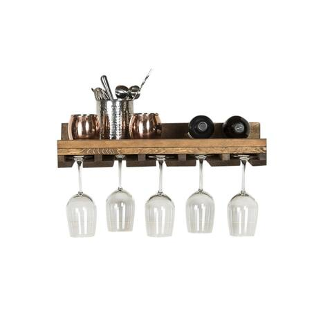 Del Hutson Designs Rustic Luxe Stemware Shelf