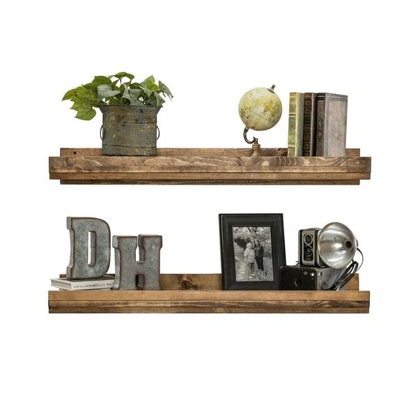 Handmade Del Hutson Designs Rustic Luxe Shelf, Set of 2