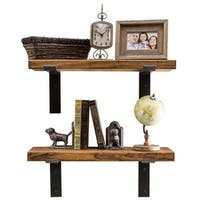 Del Hutson Designs Industrial Bracket Shelves, Set of 2
