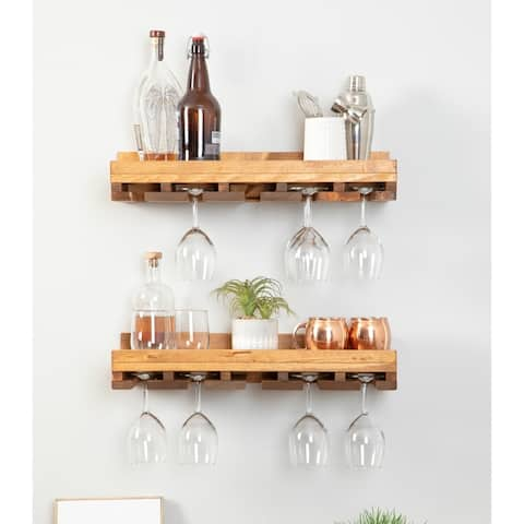 Del Hutson Designs Rustic Luxe Stemware Shelf Set