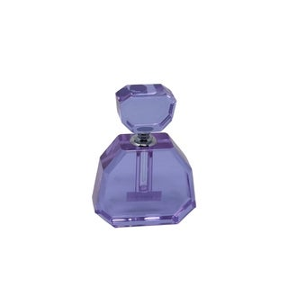 Sagebrook Home 13298-03 Crystal Perfume Bottle, Purple Crystal, 3 x 1 x 4.5 Inches