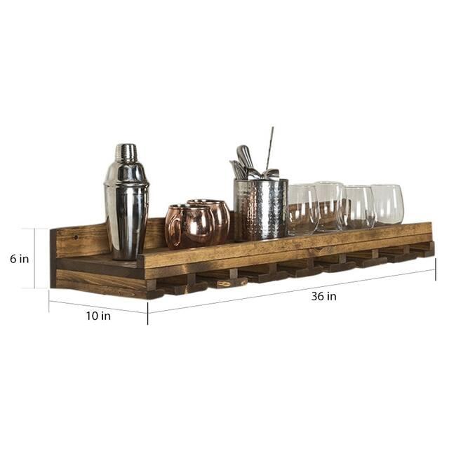 "Rustic Luxe Stemware Shelf, 36"""