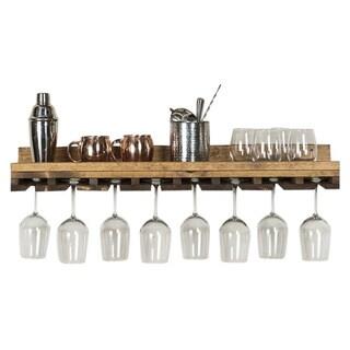 """Del Hutson Designs Rustic Luxe Stemware Shelf, 36"""""""