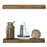 Del Hutson Designs True Floating Shelves, Set of 2, 20""