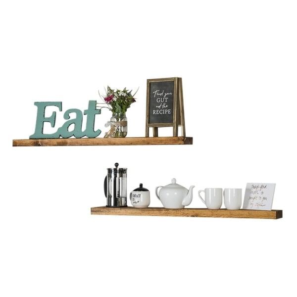Set of 2 Del Hutson Rustic Floating Shelves