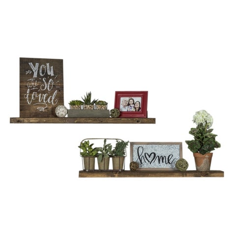 "Del Hutson Designs True Floating Shelves, Set of 2, 36"" - N/A"